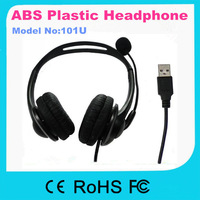 2013-2014 Hot! 101U Headphone with microphone handset , USB port Headset for computer high quality earphone