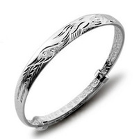 Free Shipping  retail Accessories silver bracelet silver bracelet hand ring Women fashion