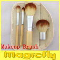 [HSZL-003] 4Pcs Earth-Friendly Bamboo Elaborate Makeup Brush Sets + Free shipping