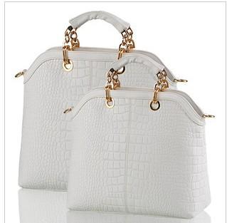 AR408 2014 New arrival famous brand good quality composite cow leather CROCO modern design women handbag/Shoulder Bag Q9(China (Mainland))