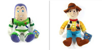 "Free Shipping EMS 30/Lot 2PCS Toy Story 3 Woody & Buzz Lightyear Doll Toy 14"" Wholesale"