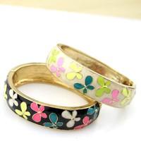 Wholesale Lot 5x Fashion luxurious glaze bracelet opening flower alloy bracelet limited edition do