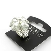 Wholesale Lot 24x Fashion accessories gem flower ring female elastic jewelry dv