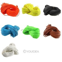 65.61 Feet (20 meter) 7 colors for choose Artificial round leather jewelry cord Charms Making 2mm Free shipping wholesale