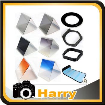 10 1 filter set gradient mirror x3 nd mirror +62mm adapter ring +filter holder+filter bag case +Lens Hood & Holder for Cokin P