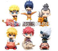Naruto Mini Action Figure Naruto Kakashi Nara Shikamaru Gaara Sasuke Namikaze Minato PVC Figure Toys Dolls set of 6