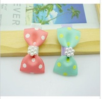 Fashion shiny silk fabric hair bow hair clip/barrettes/Kids Ribbon hairpin/girl hair accessories Free shipping