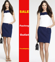 Free Shipping 2013 Women's Double Pocket Sleeveless Casual Dress AK2345