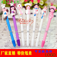 free shipping/nurse style soft pottery clay ballpoint pen ball pen for school and office supplies