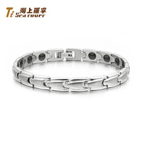 Retails&Rover germanium titanium lettering energy anti fatigue anti-radiation lovers bracelet