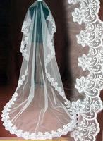 The bride wedding dress quality accessories veil 2012 laciness lace quality wedding dress veil