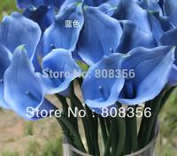 96pcs 35cm PU Real Touch Artificial Simulation Flower Calla Lily Zantedeschia Aethiopica Alocasia Plumbea Wedding Christams