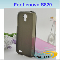 Wholesale 5pcs/lot Lenovo S820 smart phone Colorful TPU Case mobile back cover free shipping LT18
