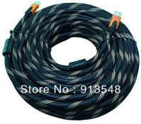 factory supply HDMI cable 30m with Enthernet no amplifier/for HDTV, blueray,computer,STB/nylon mesh