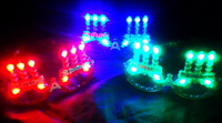 Masquerade supplies happy brithday birthday candle glasses flash neon led glasses