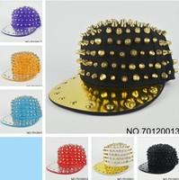 Handmade rivet hats baseball cap spikes studs spiked hats unisex cap hip-hop spikes spiky spike snapback free shipping 130708