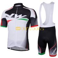 Free Shipping 2013 NEW! NW white Bib short sleeve cycling jerseys wear clothes bicycle/bike/riding jerseys+pants shorts