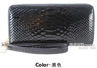 2013 women's wallet long design genuine leather wallet snakeskin pattern leather purse women's wallet day clutch bags 9 colors