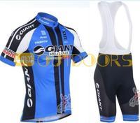 Free Shipping 2013 NEW! Giant Blue Bib short sleeve cycling jerseys wear clothes bicycle/bike/riding jerseys+pants shorts