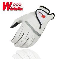 Free shipping Sports Golf Gloves Superacids wistella slip-resistant golf gloves male genuine suede leather gloves