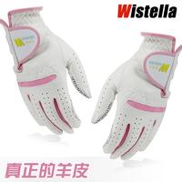 Colored Golf Gloves Wistella golf gloves Women suede genuine leather gloves
