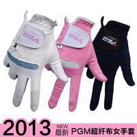 OEM Golf Gloves New arrival pgm golf gloves women's super-fibre cloth gloves soft and breathable