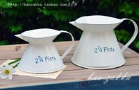 White and blue bao zakka statuesque kettle iron sheet pot 2