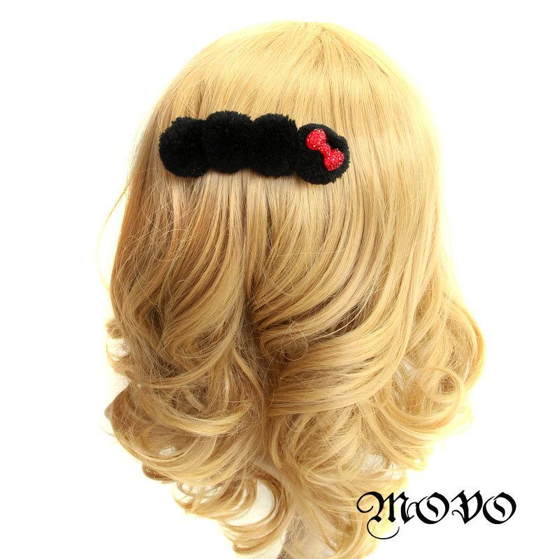 Princess Lolita Bow all-match sphere hairpin meatball head accessories hair pin clip(China (Mainland))
