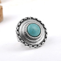 2013 New Arrival Women Bijoux,Antique Silver Plated Turquoise Stone Rings ,Fashion Vintage Ring for Women Gifts T5R31