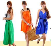 Bikini beach dress bohemia dress full beach clothes female2