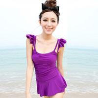 The new popular 2013 Hot spring swimwear female small push up one-piece dress plus size swimwear swimsuit  Free Shipping