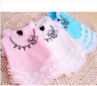 2013 summer princess necklace clothing pet clothes teddy clothes dog vest