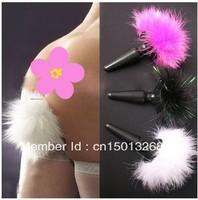 3.5*10cm soft silicone rabbit tail stimulator anal plug, butt plug , dildo masturbation sex toy for women S31