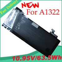 "63.5Wh 10.95V 6 Cell A1322 Original Genuine Laptop Battery For APPLE MacBook Pro 13"" MB990LL/A MB991LL/A MC374LL/A A1278 MC700"