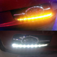 free shipping, super bright daytime running light for chevrolet cruze 2009-2012,fog lamp cover kit with LED DRL and turn signals
