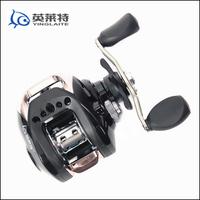 Free Shipping 10 Pcs/Lot 11 shaft drop round lure wheel magnetic black blue fishing reels fishing tackle