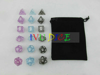 DND Table 18PCS Dungeons&Dragons game number dices DICE Onions color IVU freeshipping