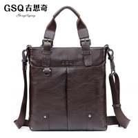 Gsq boutique bag men business casual quality luxury cowhide messenger bag handbag shoulder bag