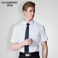 Fabric modern short-sleeve shirt male british style business casual oxygen thin slim all-match