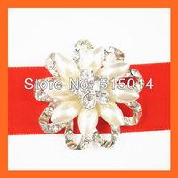 Free Shipping ! 100pcs/lot 40mm Wedding Brooch Pin With Flatback For invitation Card,Rhinestone Embellishment,Rhinestone Cluster