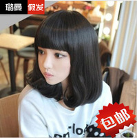 Wig stubbiness pear repair female bobo wig bangs qi 30167