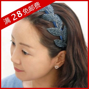Small accessories fashion gentlewomen leaves style handmade beaded broadside hair bands headband female