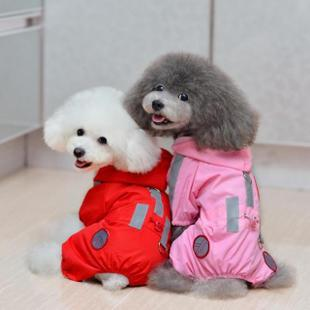 Pet raincoat clothes dog raincoat bo chigoes teddy vip reflective of raincoat