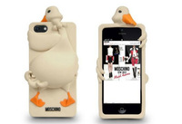 10pcs/lot 3D stereo cartoon cute luisa swan silicone cover cases for iPhone 5 5G, with retail package and Logo,Free Shipping