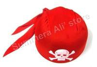 10pcs/lot Black or Red Pirate hat for Halloween in free shipping