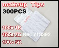300PCS  Permanent Makeup Tips Eyebrows Lip Makeup Machine Tip Free Shipping (1/3/5R,100pcs of each)