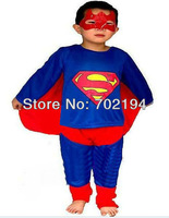 5sets/lot x Child Masquerade super hero Costumes suit super man Halloween dress carvinal clothing Anime Outfit suit dress