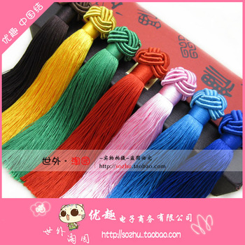 Diy handmade hanging accessories chinese knot hanging ear chromophous 22 pineapple tassel fringe set