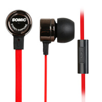 Somic MH403i in-ear headphones noodles phone microphone line weight low tape control computer phone headset