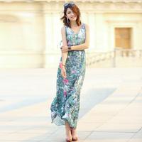 2013 bohemia full dress chiffon one-piece dress women's beach dress